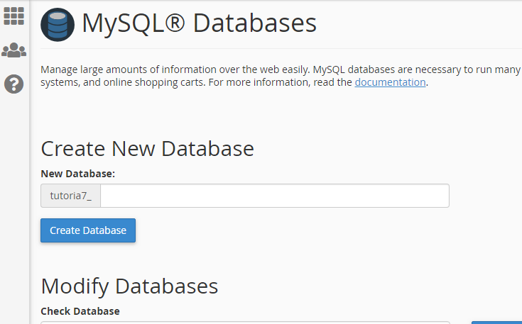 MySQL databse