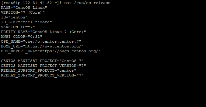how-to-check-centos-version-ssh-command