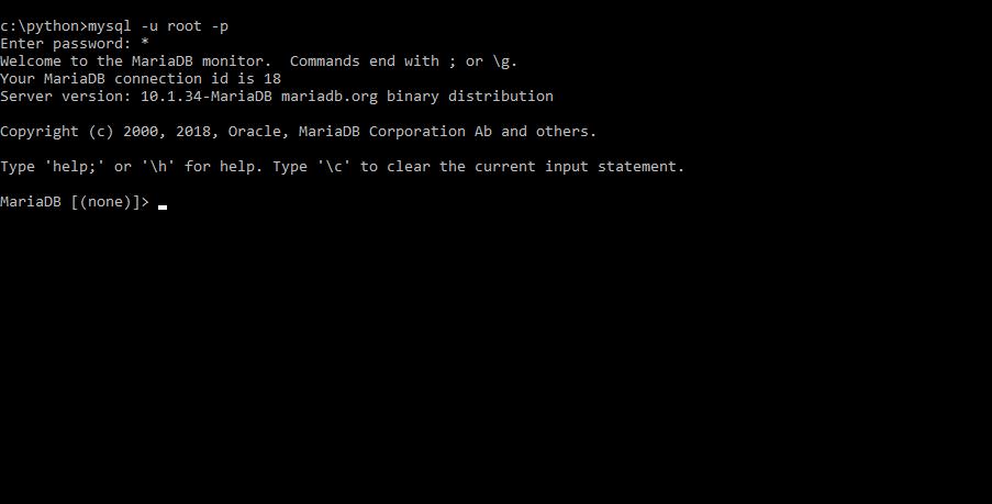 create a database python