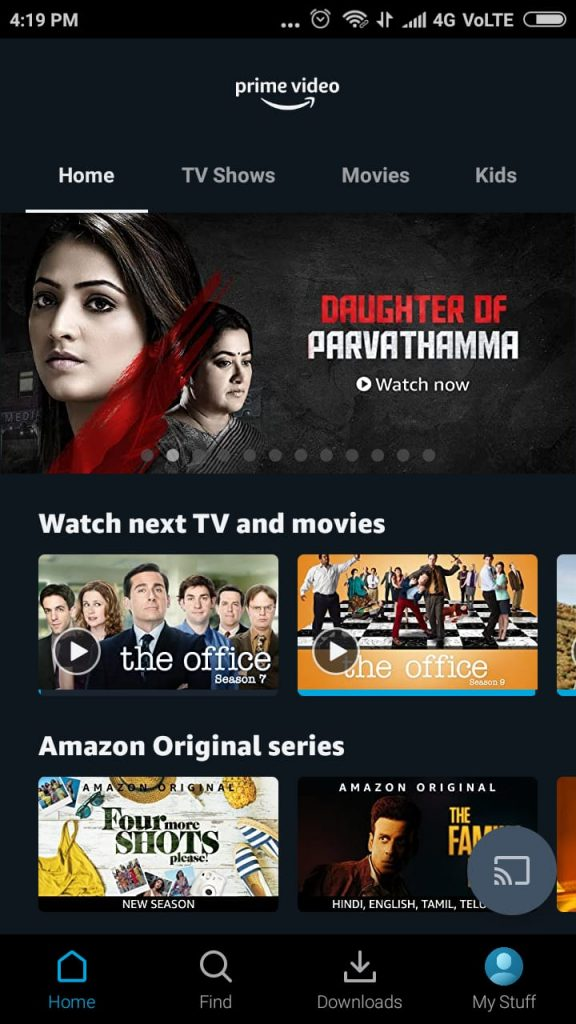 install amazon prime videos in android smart TV